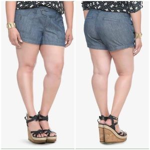 Torrid Chambray Denim Plus Size Shorts